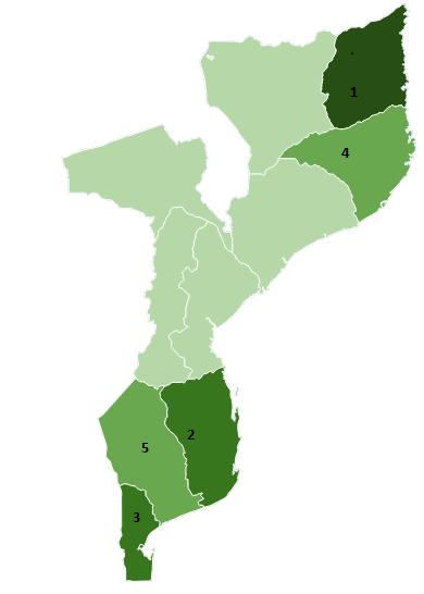 Mapa Dónde Cooperamos OTC Mozambique